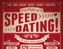 Speed Dating Event Poster