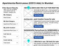 Website Wireframes for Quikr