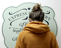 Wall paintings. Calligraphy and lettering
