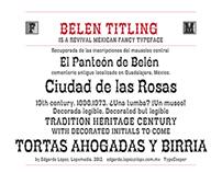 Belen Titling. Typeface
