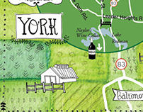 Wedding Map, York, Pennsylvania