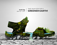 Earth day creative for vkc footwear