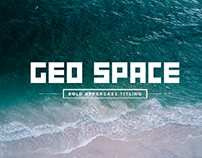 GEO Space Font | Bold Uppercase Titling