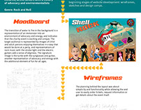 Shell Rock Moodboard and Website Design Comps