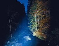 Bohemian-Saxon Switzerland by night, Czeska Szwajcaria