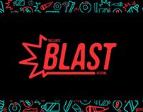 The Legits Blast Festival visual identity 2017