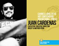 Juan Cardenas - Predictions Cannes 2016 - Press
