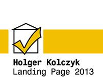 Holger Kolczyk - Landing Page 2013