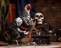 Barbary Pirate Chickens