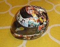 Collage on Motorcycle Helmet