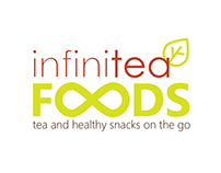 Infinitea Foods logo and packaging design
