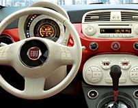 Fiat 500 (interna) | Sunsetcom