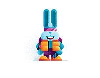 Rabbit Flat Design Illustration + Digital Brushes