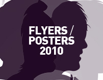Posters & flyers designed for clubbing events in 2010