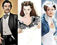 Gone With the Wind Fan Art by K. Fairbanks