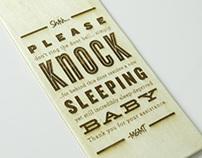 Sleeping Baby Sign