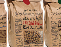 Beauford's Pasta Packaging Design