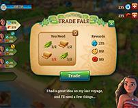Moana Island Life UI Concepts