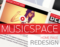 Musicspace homepage redesign