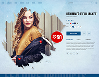 product detail, fashion banner, women, ui/ux