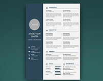 10 Photoshop Editable Resume CV Template Free Download