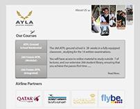Ayla Aviation Facebook branded page design options