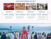 Event Planning Website Homepage Design