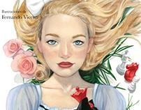 """Illustrated book """"Alicia a través del espejo"""" L.Carroll"""