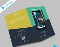 Mobile Fold Brochure Psd