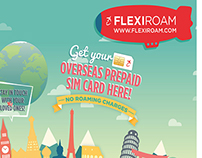 Flexiroam's Travel Fair Booth Backdrop