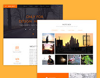 Digital Beauty  - Minimal Webpage UI Design
