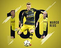 Marco Reus - 100 Goals - A Tribute Poster