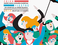 Cartel finalista fiestas de Vitoria Gasteiz