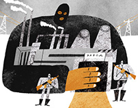 series of illustration about Donbass