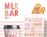 The Milk Bar Cafe Branding