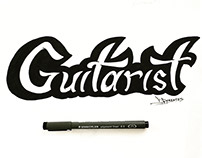 Guitarist Lettering Logotype