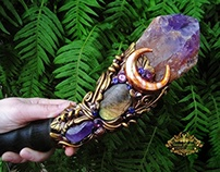 DIVINE ENCHANTER Amethyst Crystal Wand