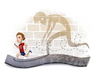 """Illustrations """"Bieganie 1-2/2013"""""""