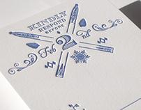 Ski Lodge Letterpress Wedding Invitation