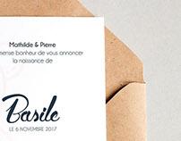 Basile. FAIRE-PART