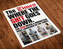 Newspaper wrap for The Times