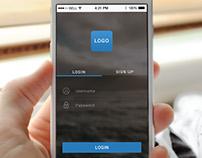 App Login Screen