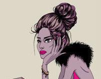 """illustration """"Shopaholic"""""""