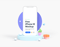 Free iPhone 12 Clay Mockup – Sketch + Figma