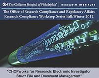 CHOP Compliance Workshop Series - Fall/Winter 2012