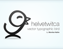 Helvetwitca Vector Typographic Bird (FREE download)