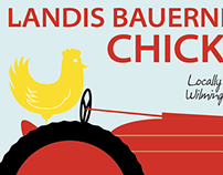 Landis Bauernhof Chicken Label