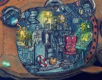 Raccoon's Submarine Home