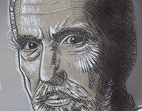 Christopher Lee Tribute Illustration