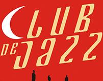 Cartel para el cortometraje Club de jazz.